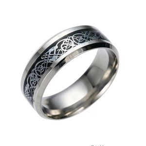 Other - Stainless Steel Celtic Dragon Band Ring